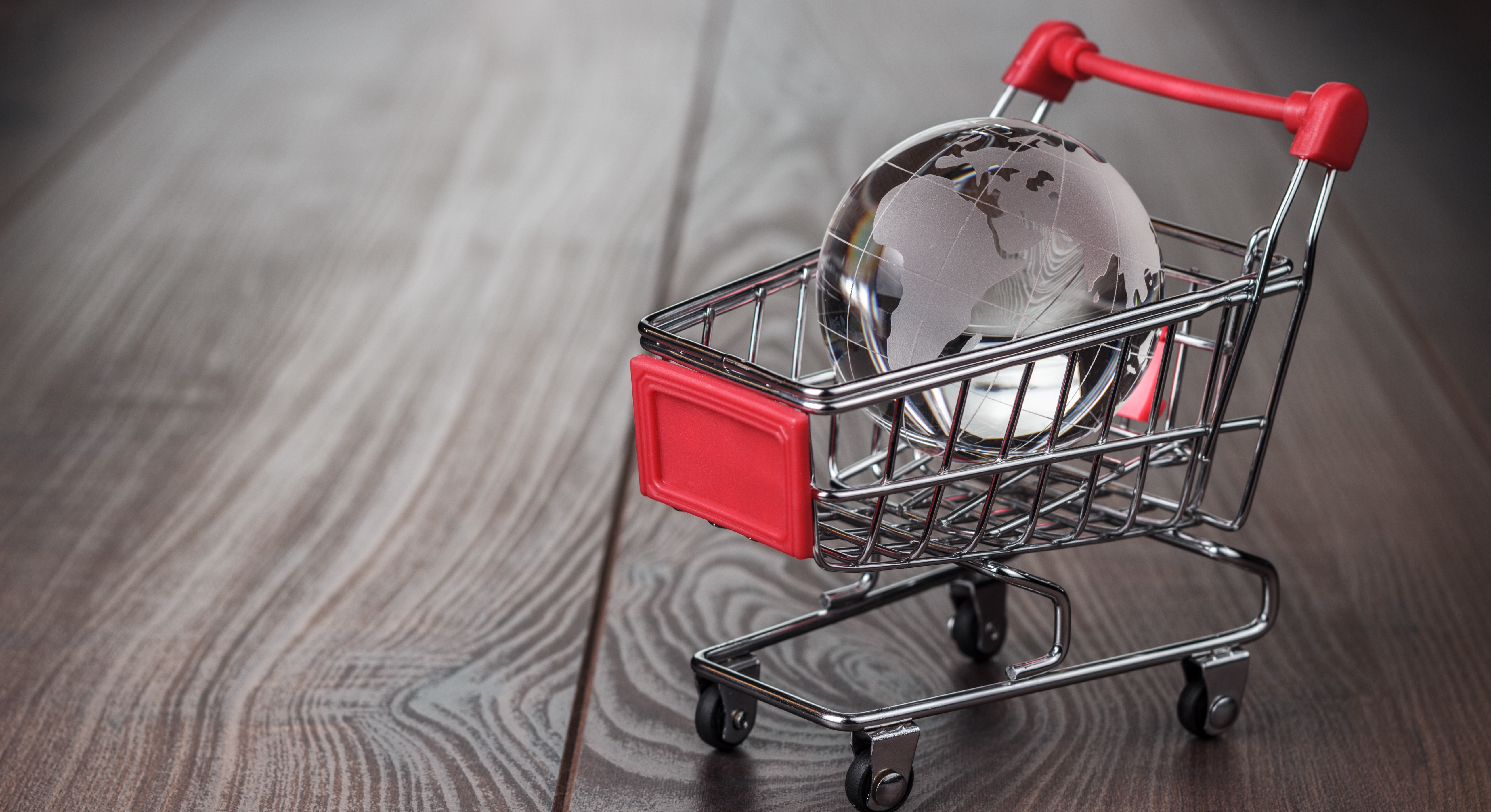 glass-globe-in-the-shopping-trolley-concept-P9BT27E